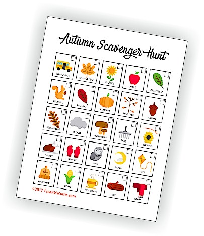Image of Printable Autumn Scavenger Hunt