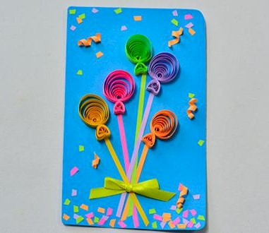 Image of Quilled Balloon Card