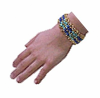 Image of Bead and Safety Pin Bracelet