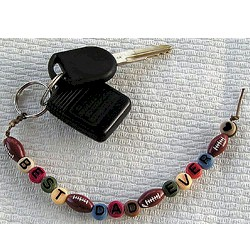 Best Dad Ever Beaded Key Chain