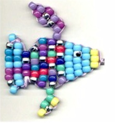 Colorful Beaded Rainbow Fish