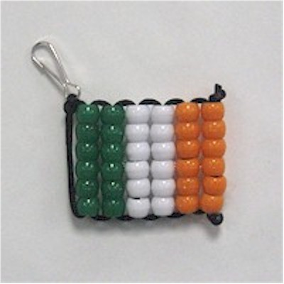 Image of Beaded Irish Flag