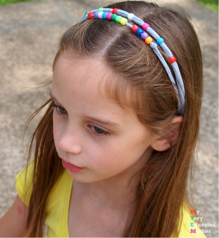 Image of Recycled Tee Shirt Beaded Headbands