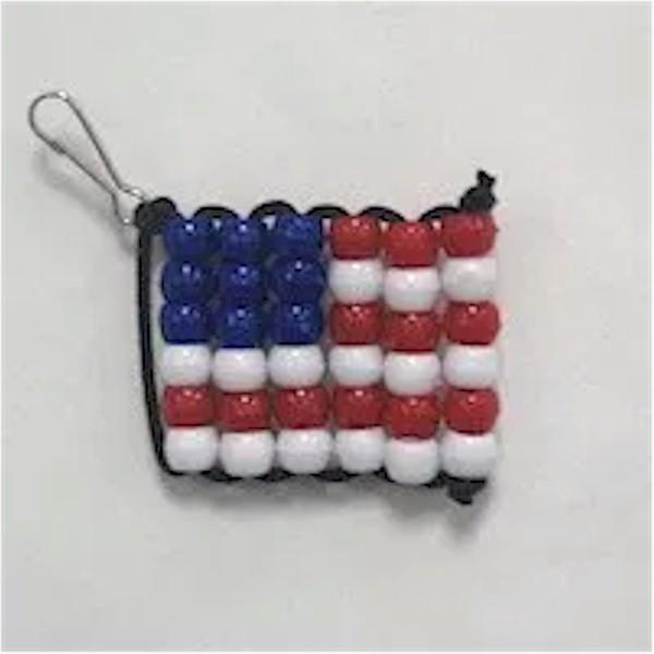 Beaded USA Flag Craft