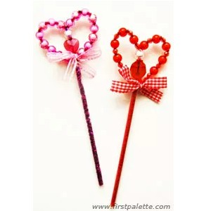 Image of Beaded Valentine Wand