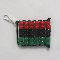 Beaded Kwanzaa Flag