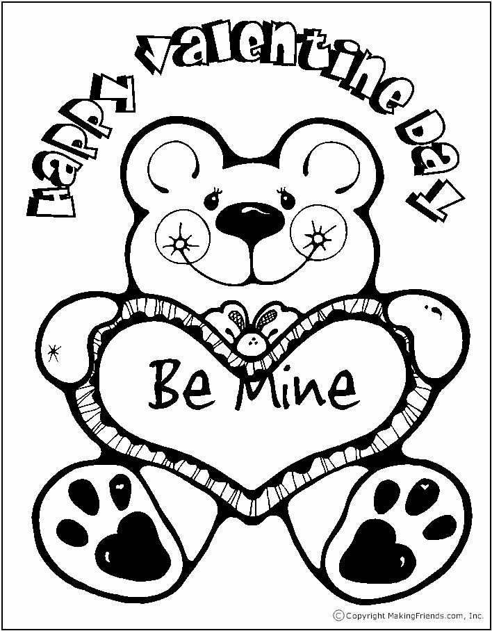 Punchy image within valentines to color printable