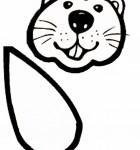 beaver-face-bw