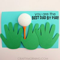 Image of Fathers Day Poem and Handprint Card