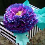Fringed Tissue Paper Flower Decoration