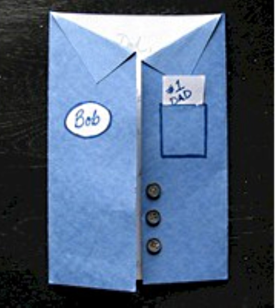 Uniform style Father's Day card for kids to make.
