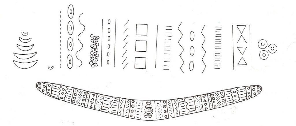 Boomerang for Australian boomerang template