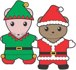 Printable Christmas Buddy Paper Dolls
