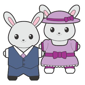 Image of Printable Easter Buddies Paper Dolls