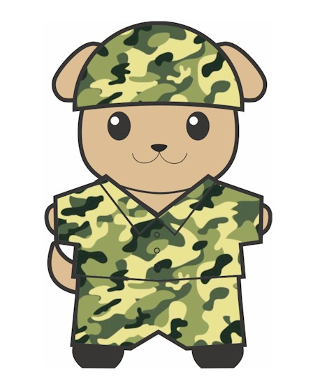 Military Buddy Paper Doll