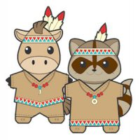Image of Printable Thanksgiving Pilgrim Buddies Paper Dolls