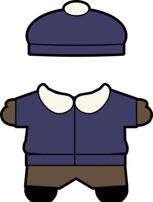 Buddies winter paper doll clothes boy