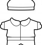 winter Buddies paper doll clothes boy bw