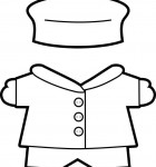 winter Buddies paper doll clothes bw