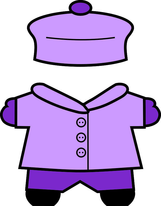 winter Buddies paper doll clothes girl color