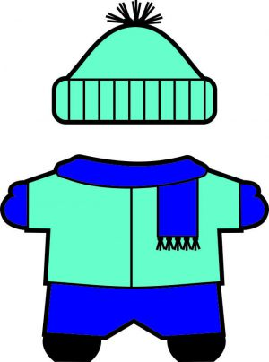 winter Buddies paper doll scarf