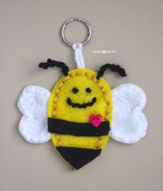 Fun Bumble Bee Key Chain