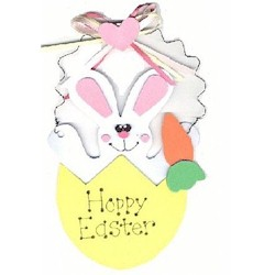 Bunny in Egg Door Hanger