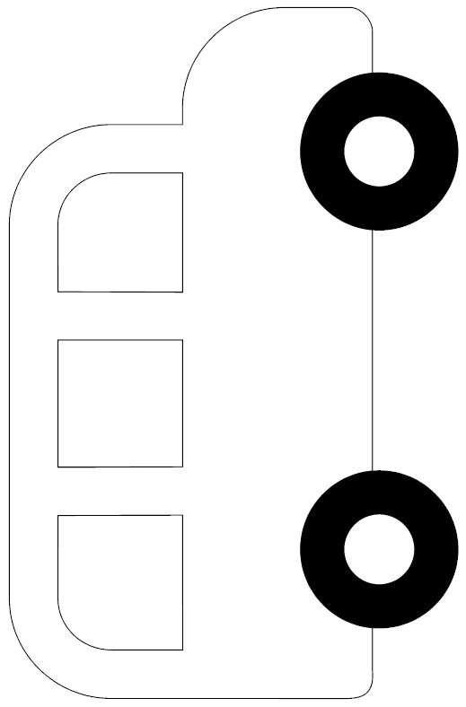 tissue paper school bus frame