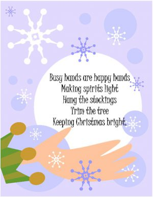 Image of Handprint Christmas Poem