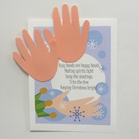 Image of Handprint Santa Ornament