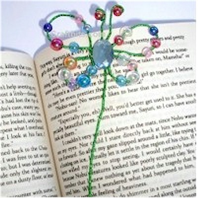 DIY beaded butterfly bookmark
