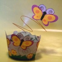 Image of Spring Cupcake Wrapper and Decoration