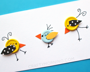 Image of Button Birds
