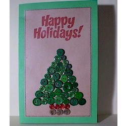 Image of Button Christmas Card Craft