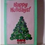 Button Christmas Card Craft