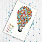 Button Hot Air Balloon Art