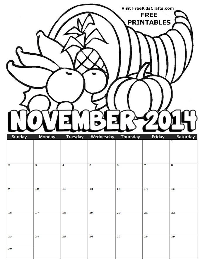 Image of 2014 November Calendar