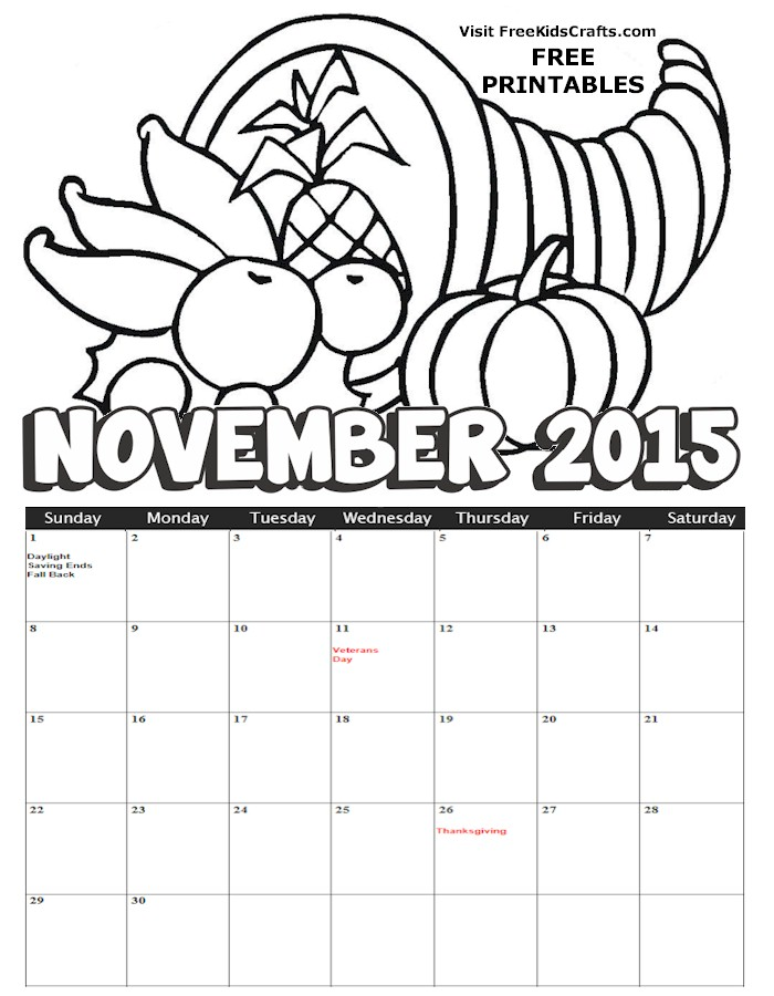 november coloring pages - photo#24