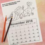 Printable November Coloring Calendar