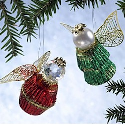 Reeses King and Queen Angel Ornament