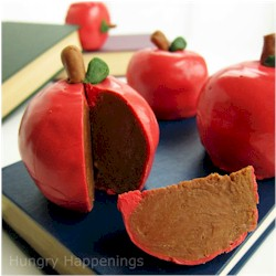 Inside Out Chocolate Caramel Apples