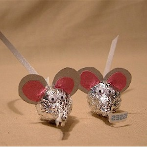 mice made with candy kisses