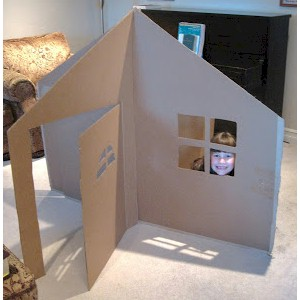 How To Make A Cardboard Playhouse