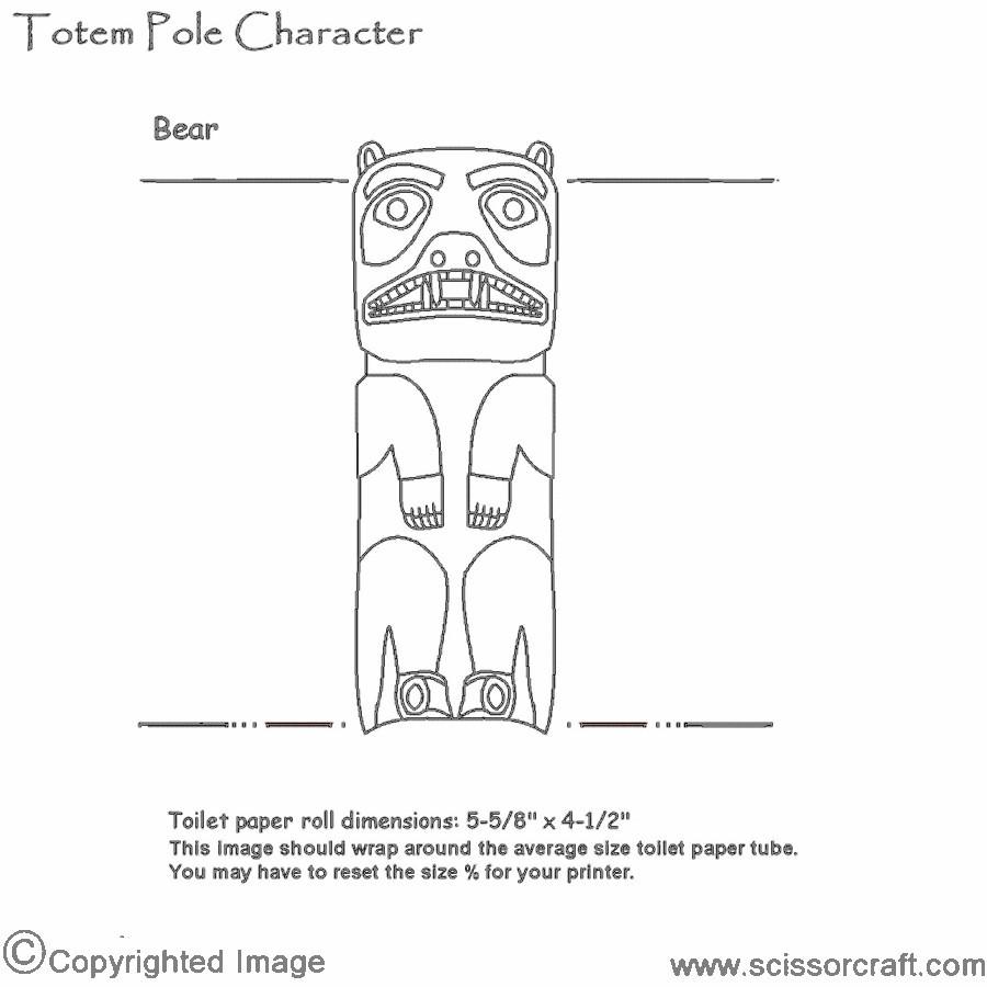photo regarding Totem Pole Template Printable named Recycled Cardboard Tube Undertake Totem Pole Craft