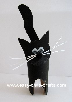 black cat paper craft recycled crafts 3458