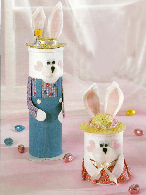 Cardboard Tube Bunny Candy Holders