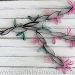 Cardboard Tube Cherry Blossoms