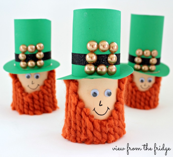 Image of Cardboard Tube Leprechauns