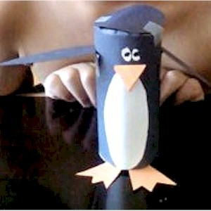 Cardboard Tube Penguin