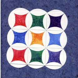 Cathedral Window Paper Quilt